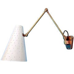 1950s Articulating Swing-Arm Wall Lamp