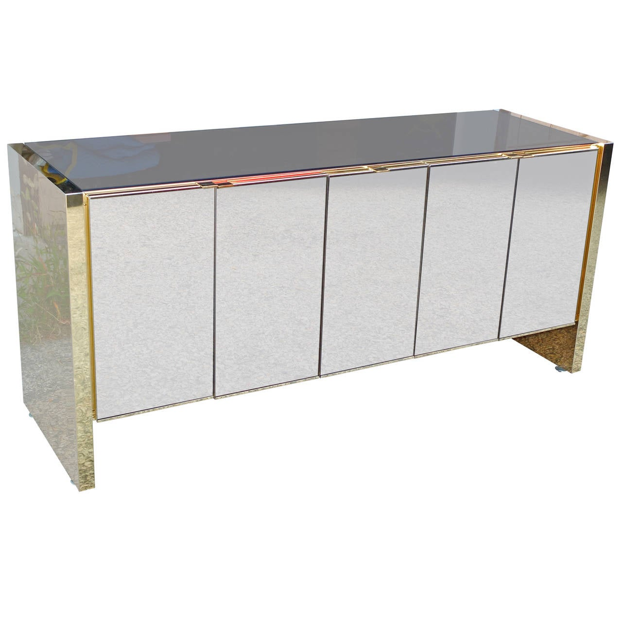 Ello Sideboard Bronze Tinted Mirror And Brass