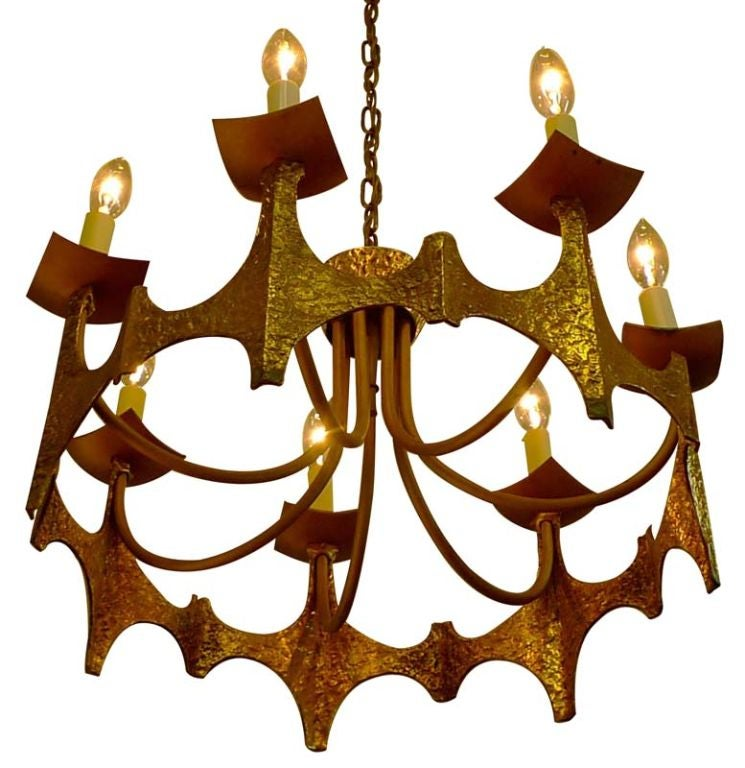 Brutalist Chandelier For Sale