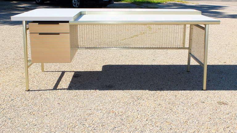 """Italic Styling"" Executive Desk from Gordon Bunshaft Building 3"
