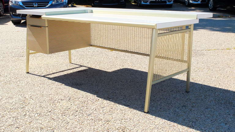 """Italic Styling"" Executive Desk from Gordon Bunshaft Building 4"