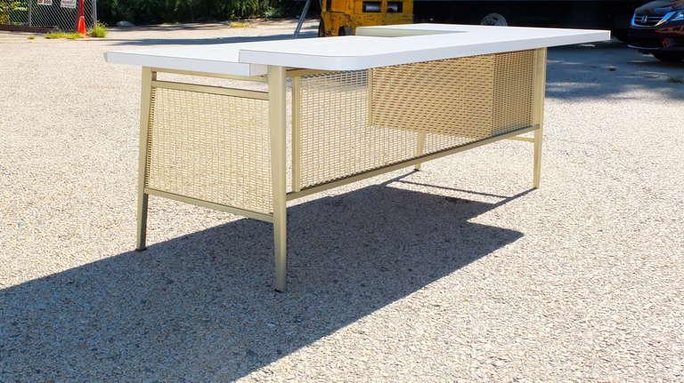 """Italic Styling"" Executive Desk from Gordon Bunshaft Building 5"