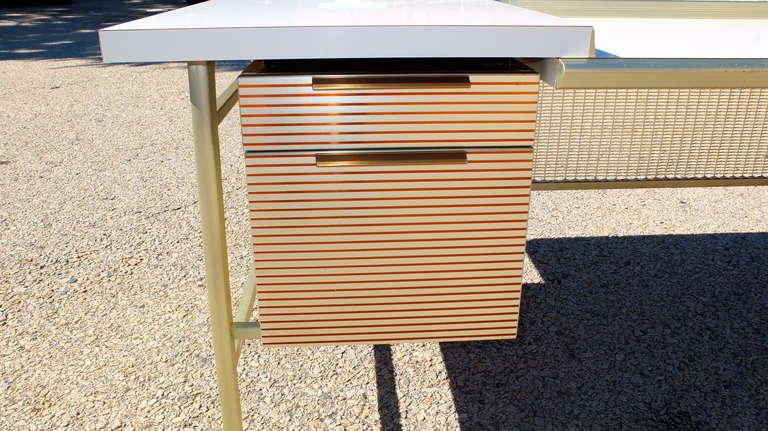 """Italic Styling"" Executive Desk from Gordon Bunshaft Building 9"