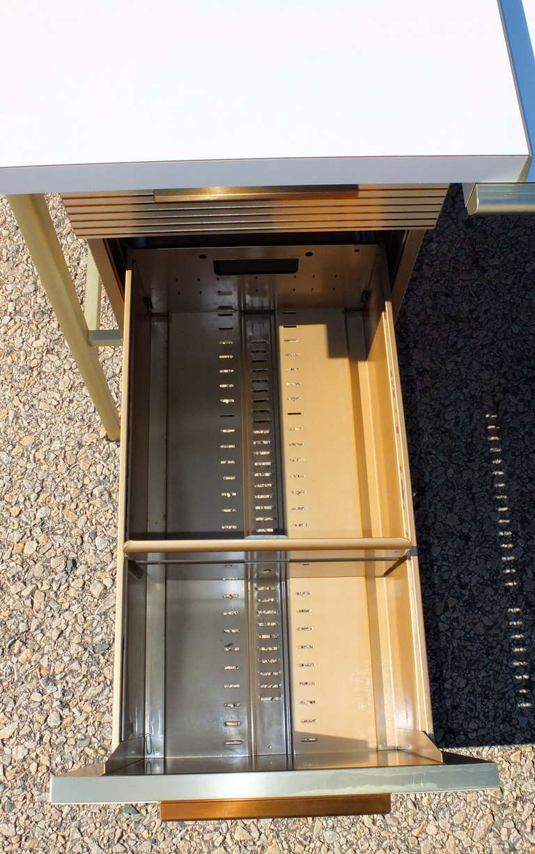 """Italic Styling"" Executive Desk from Gordon Bunshaft Building 10"