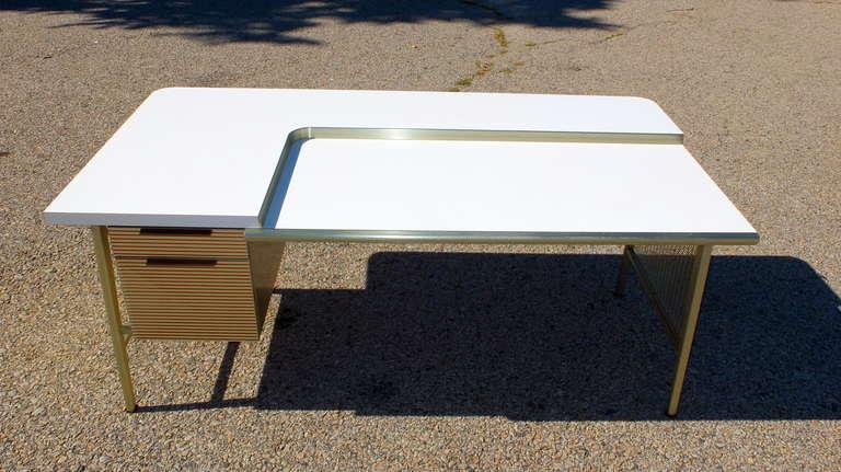 """Italic Styling"" Executive Desk from Gordon Bunshaft Building 7"
