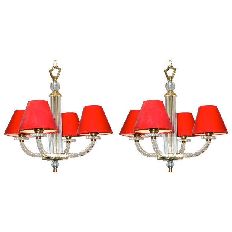 Pair of jacques adnet petite chandeliers for sale at 1stdibs pair of jacques adnet petite chandeliers for sale aloadofball Gallery