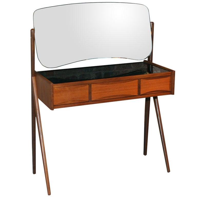 Small Teak Danish Modern Vanity Attributed To Arne Vodder