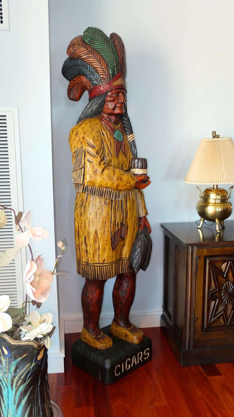Cigar Store Indian By Ed Boggis For Sale At 1stdibs