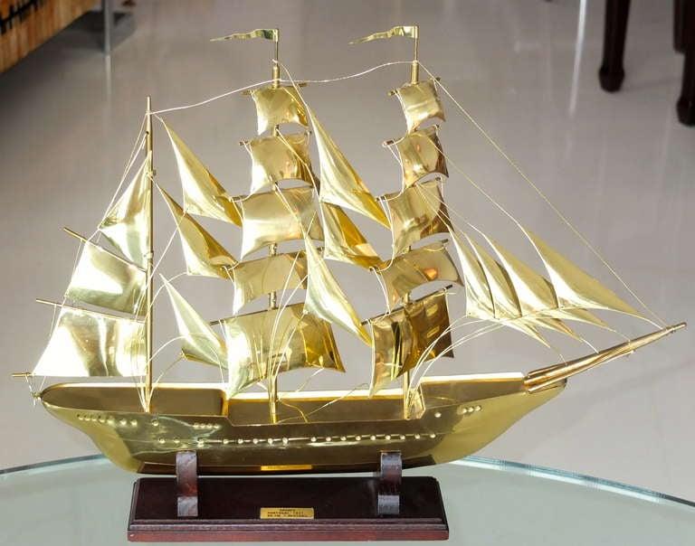 Scale model of Portuguese clipper ship