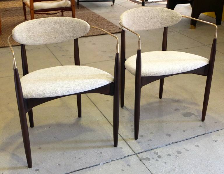 Pair Of Viscount Chairs By Dan Johnson At 1stdibs