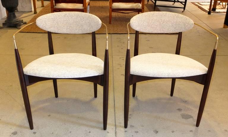 Pair Of Viscount Chairs By Dan Johnson At 1stdibs