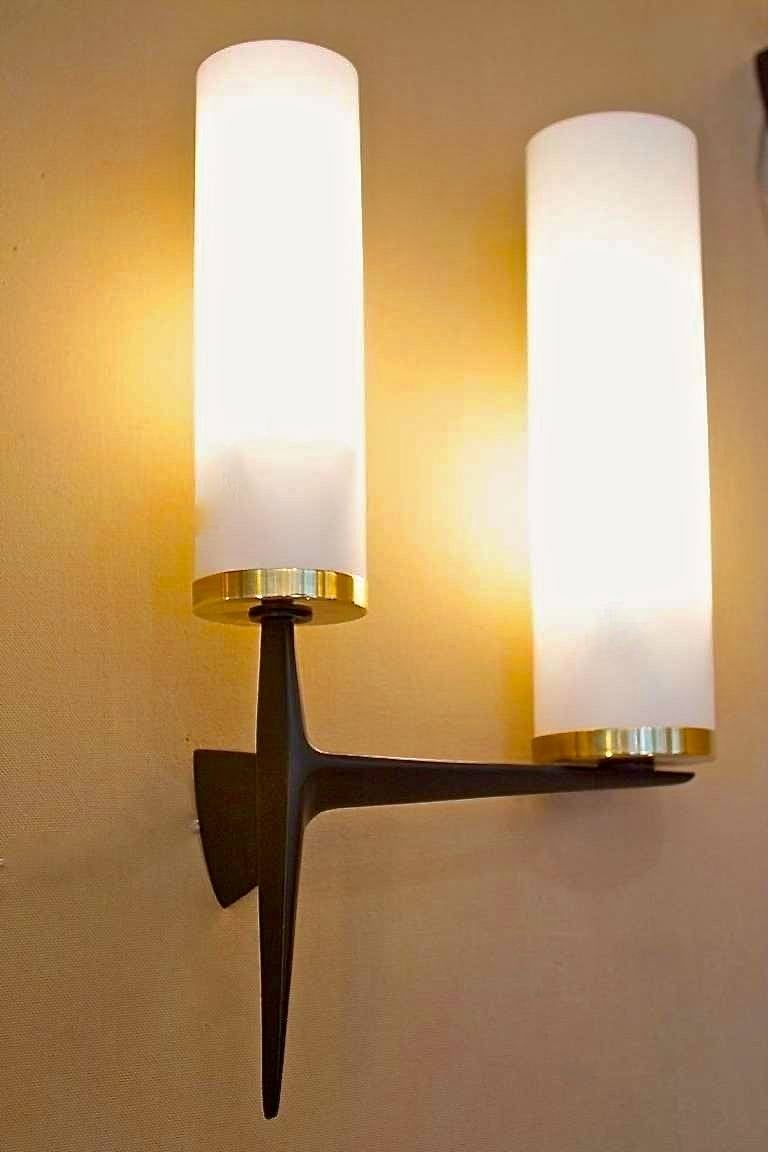Pair of Maison Arlus Sconces In Excellent Condition For Sale In Hingham, MA