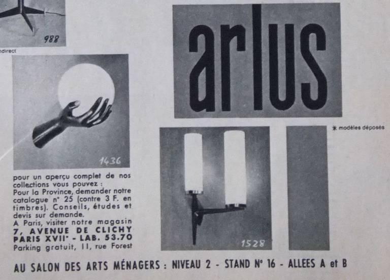 Pair of Maison Arlus Sconces For Sale 3