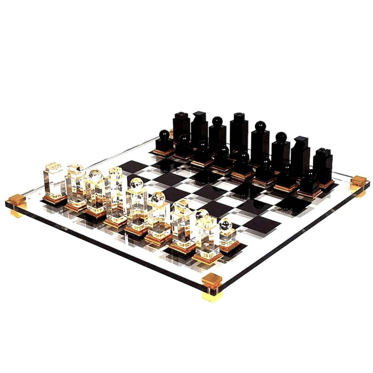 Michel Dumas Lucite Chess Set 1