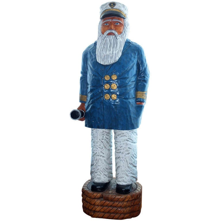 Hand carved sea captain by ed boggis for sale at stdibs
