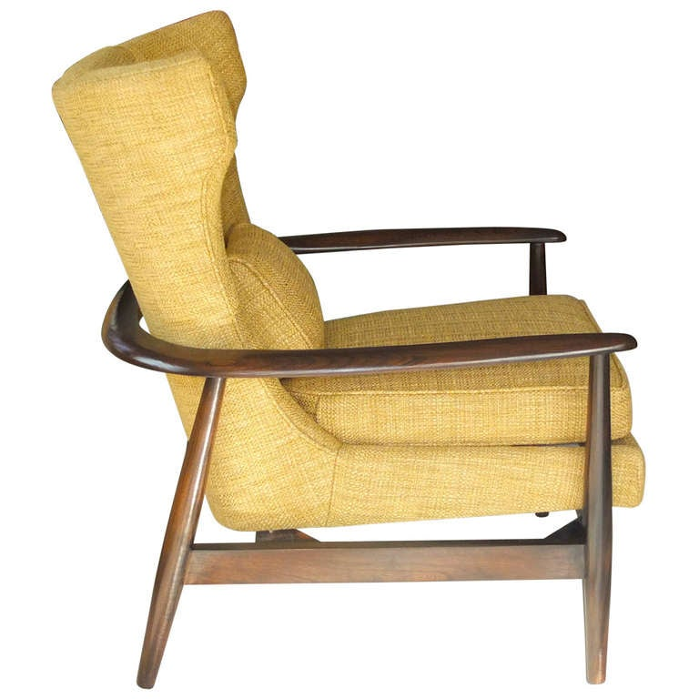 danish modern wing chair at 1stdibs