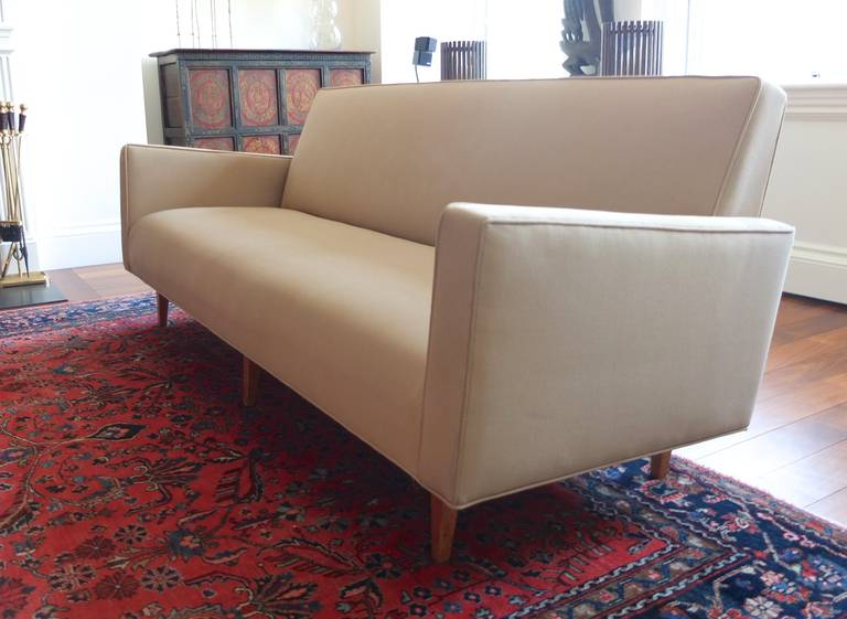 Surprising Mid Century Modern Tight Back Bench Seat Sofa For Sale At Creativecarmelina Interior Chair Design Creativecarmelinacom