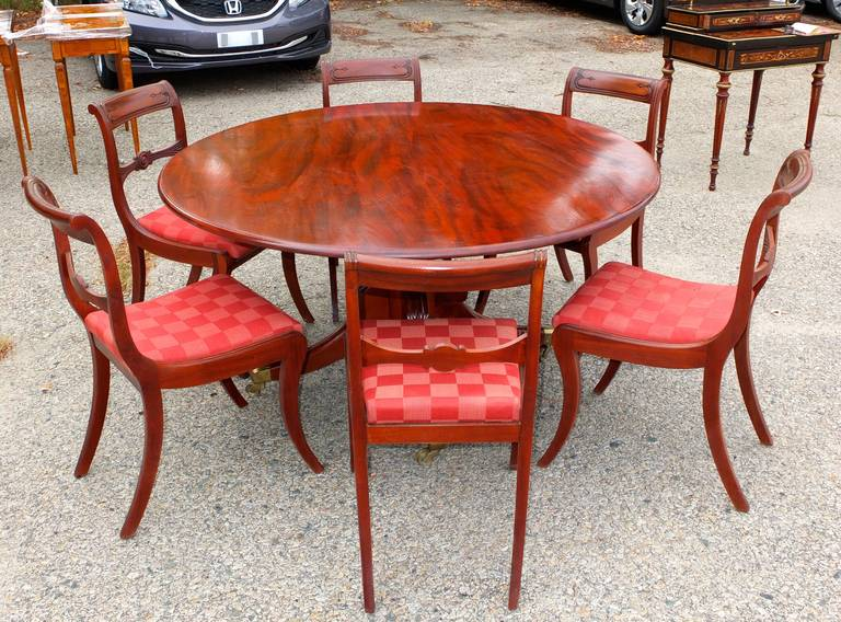 Six Regency Mahogany Dining Chairs For Sale At 1stdibs
