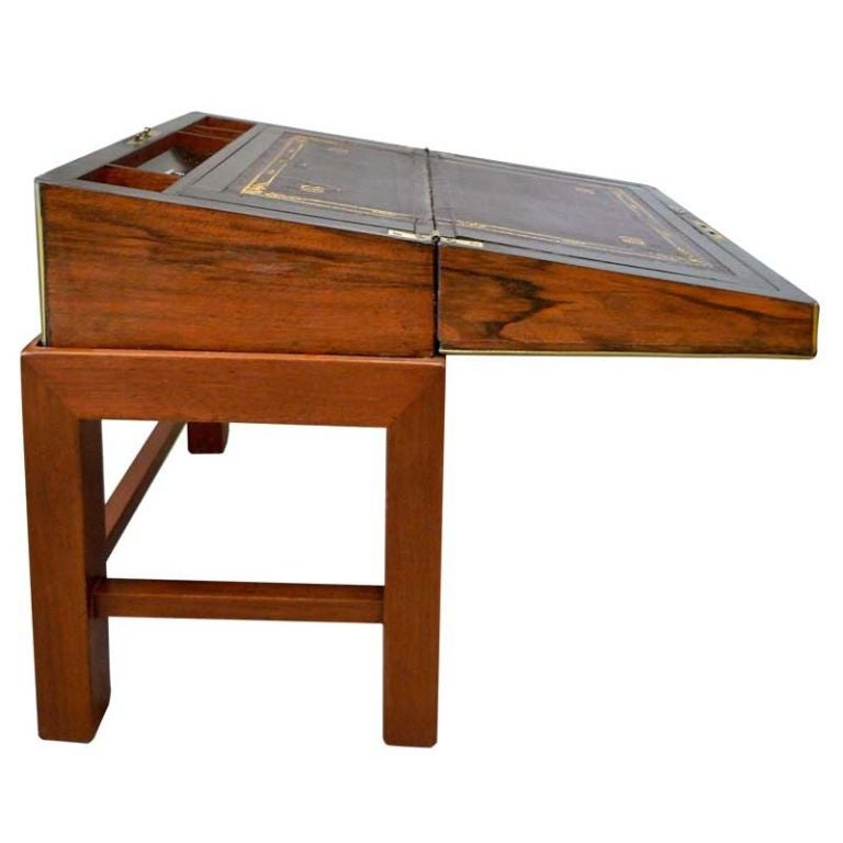 Victorian Writing Slope Lap Desk On Stand For Sale At