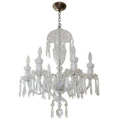 """Waterford Crystal """"Avoca"""" Six-Arm Chandelier"""