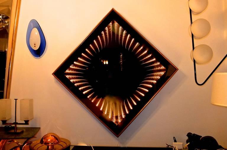 Opart Infinity Mirror Light Box At 1stdibs