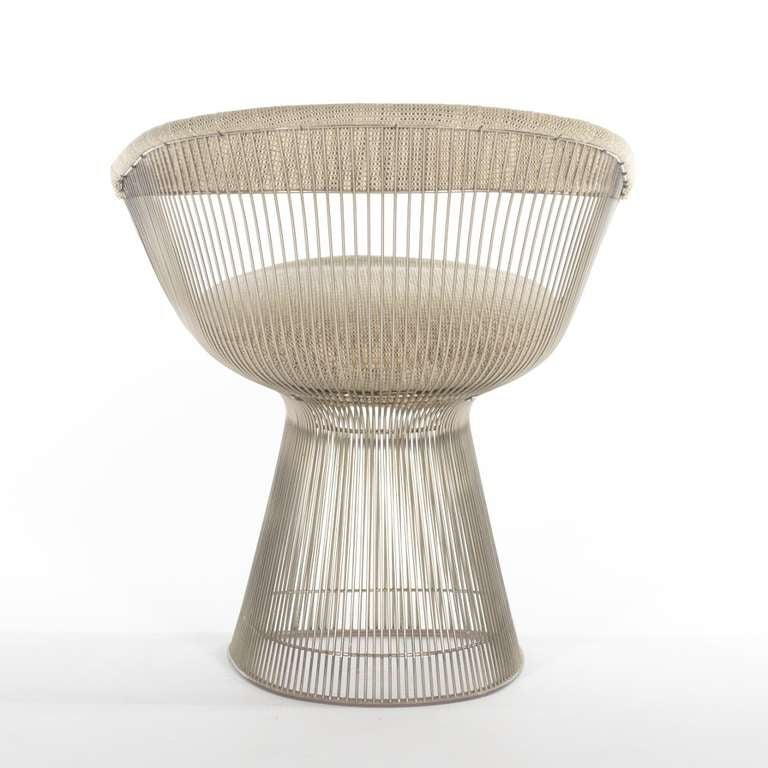 warren platner nickel side chair at 1stdibs