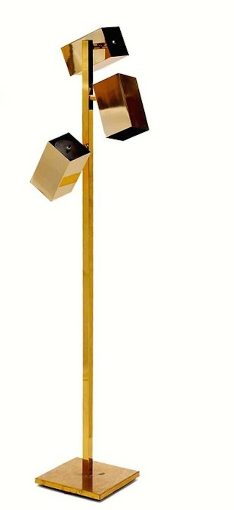 Koch And Lowy Brass Cubist Floor Lamp At 1stdibs