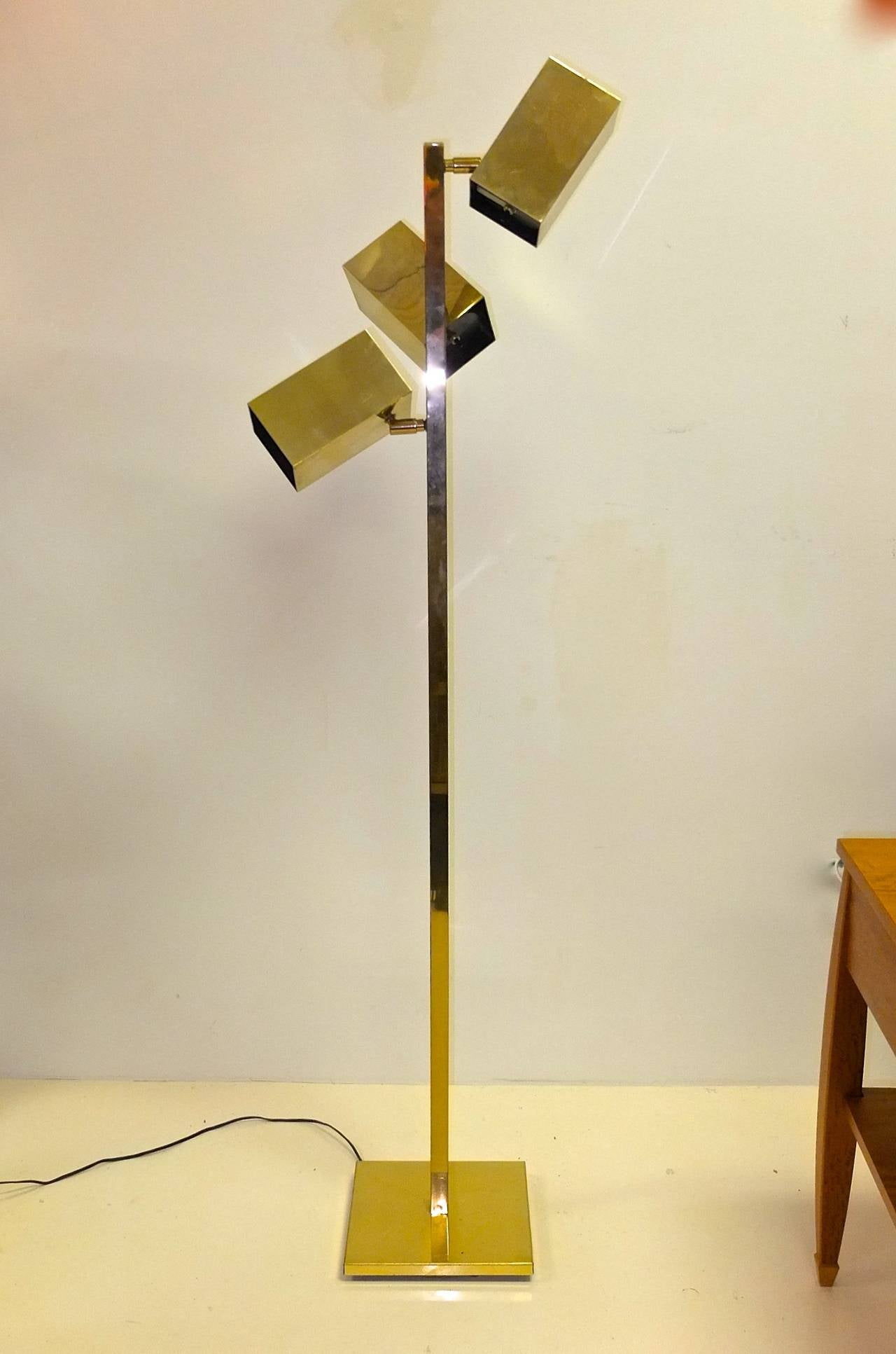 Koch And Lowy Brass Cubist Floor Lamp For Sale At 1stdibs