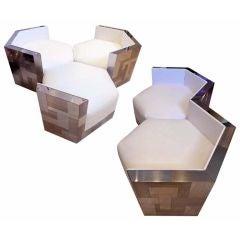 Paul Evans Cityscape Hexagonal Chairs