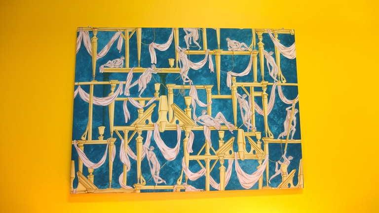 """Gio Ponti's """"La Casa Degli Efebi"""" Fabric Panel by Avigdor 3"""