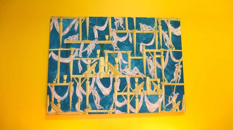 """Gio Ponti's """"La Casa Degli Efebi"""" Fabric Panel by Avigdor 5"""