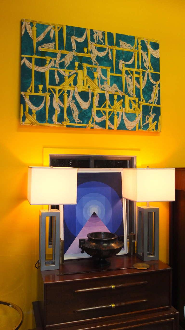 """Gio Ponti's """"La Casa Degli Efebi"""" Fabric Panel by Avigdor 6"""