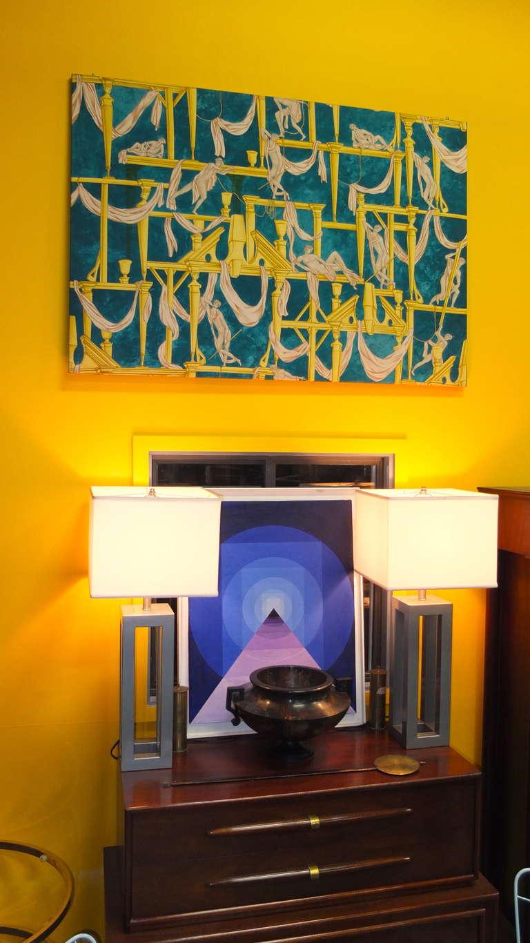 """Gio Ponti's """"La Casa Degli Efebi"""" Fabric Panel by Avigdor 7"""