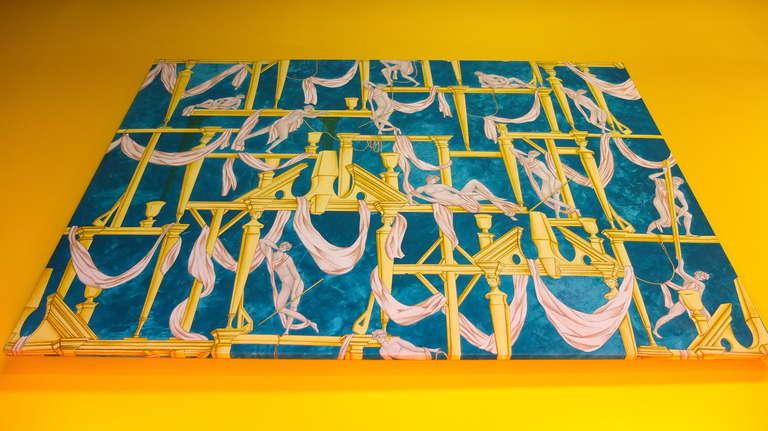 """Gio Ponti's """"La Casa Degli Efebi"""" Fabric Panel by Avigdor 8"""
