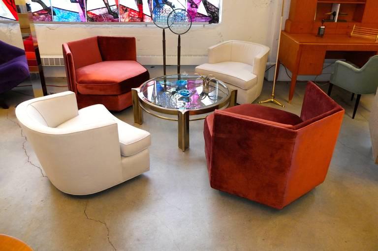 Hexagonal Club Chairs in 'Dr. Pepper' Velvet from American Hustle 4