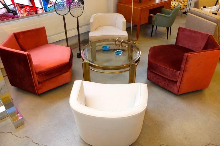 Hexagonal Club Chairs in 'Dr. Pepper' Velvet from American Hustle 1