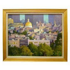 Fritz Kubitz Painting of Boston