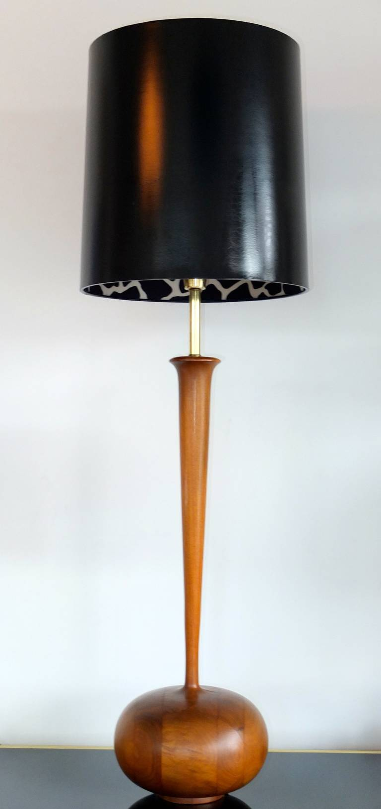 American Studio Craft Organic Modern Walnut Lamp For Sale