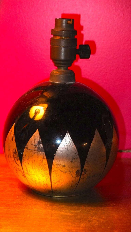 French Boudoir Lamp Cobalt Blue Glass For Sale 3