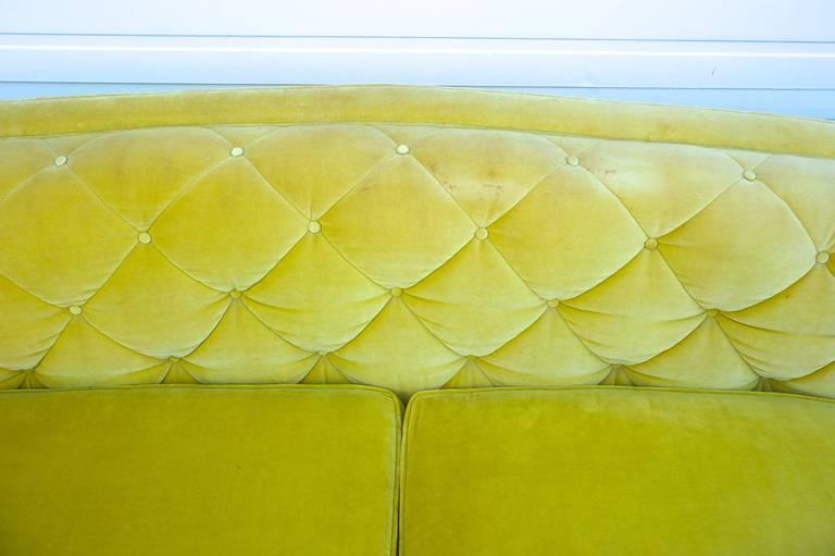 Hollywood Regency Velvet Sofa At 1stdibs