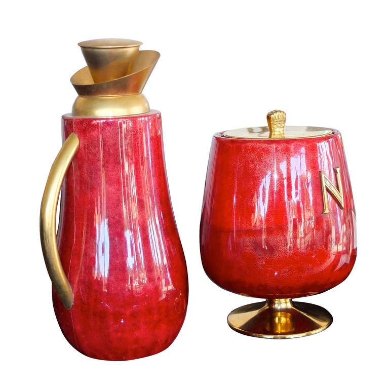 Aldo Tura Ice Bucket and Carafe