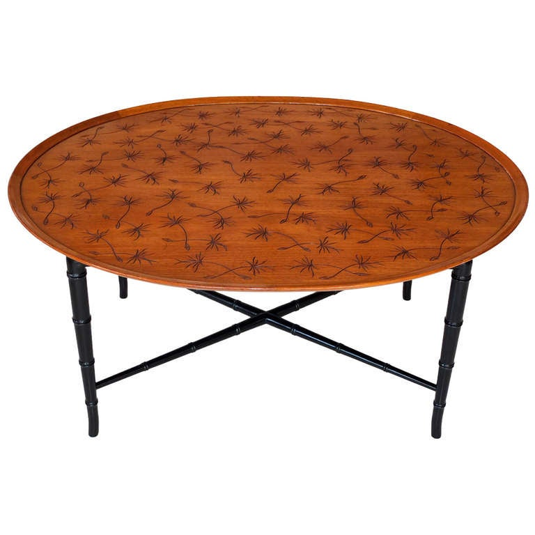 Kittinger Incised Thistledown Coffee Table
