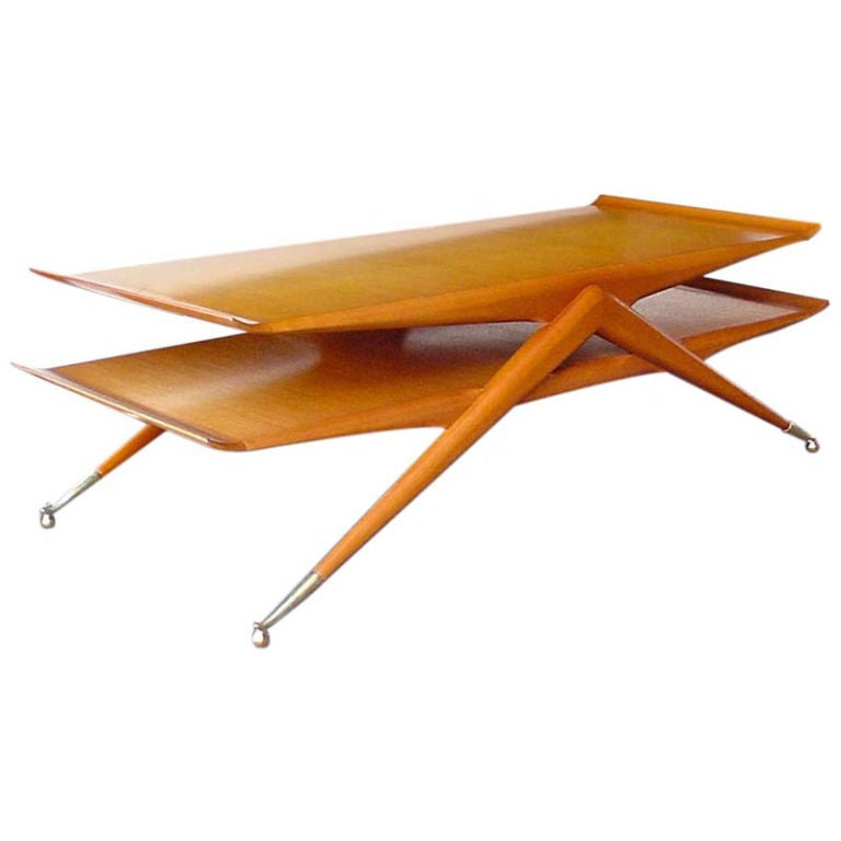 Italian 2 Tier Cocktail Table attributed to Ico & Luisa Parisi For Sale