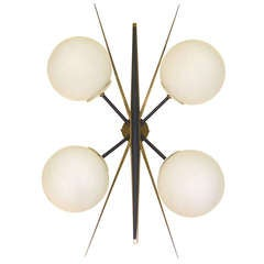 French 1950's Wall or Ceiling Light by Arlus