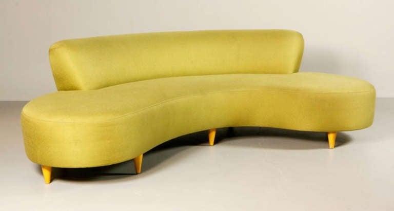 Mid Century Serpentine Sofa In Style of Vladimir Kagan at 1stdibs