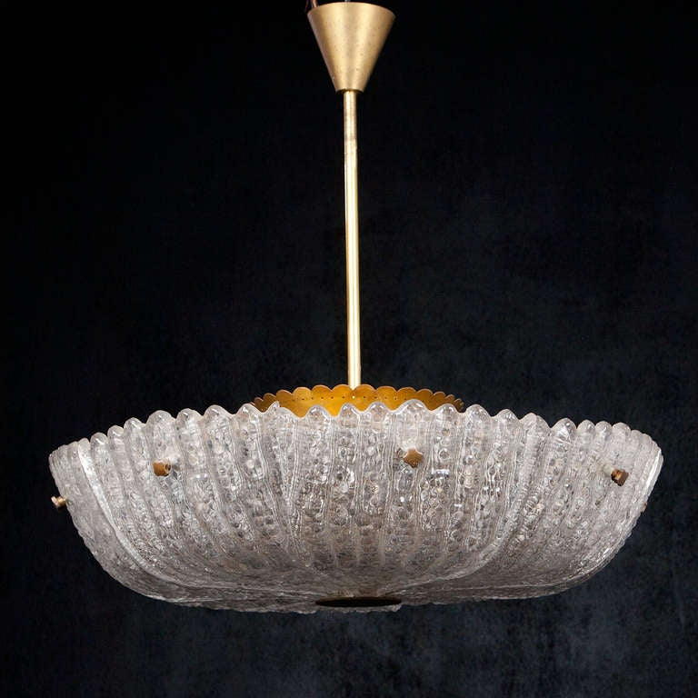 Mid-Century Modern Vintage Swedish Chandelier by Carl Fagerlund for Orrefors