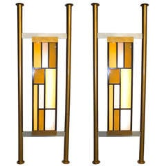 Pair of Architectural Light Box Room Dividers