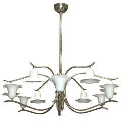 Arredoluce Twelve-Arm Lilly Chandelier