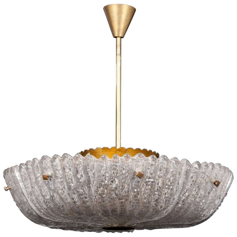 Vintage Swedish Chandelier by Carl Fagerlund for Orrefors