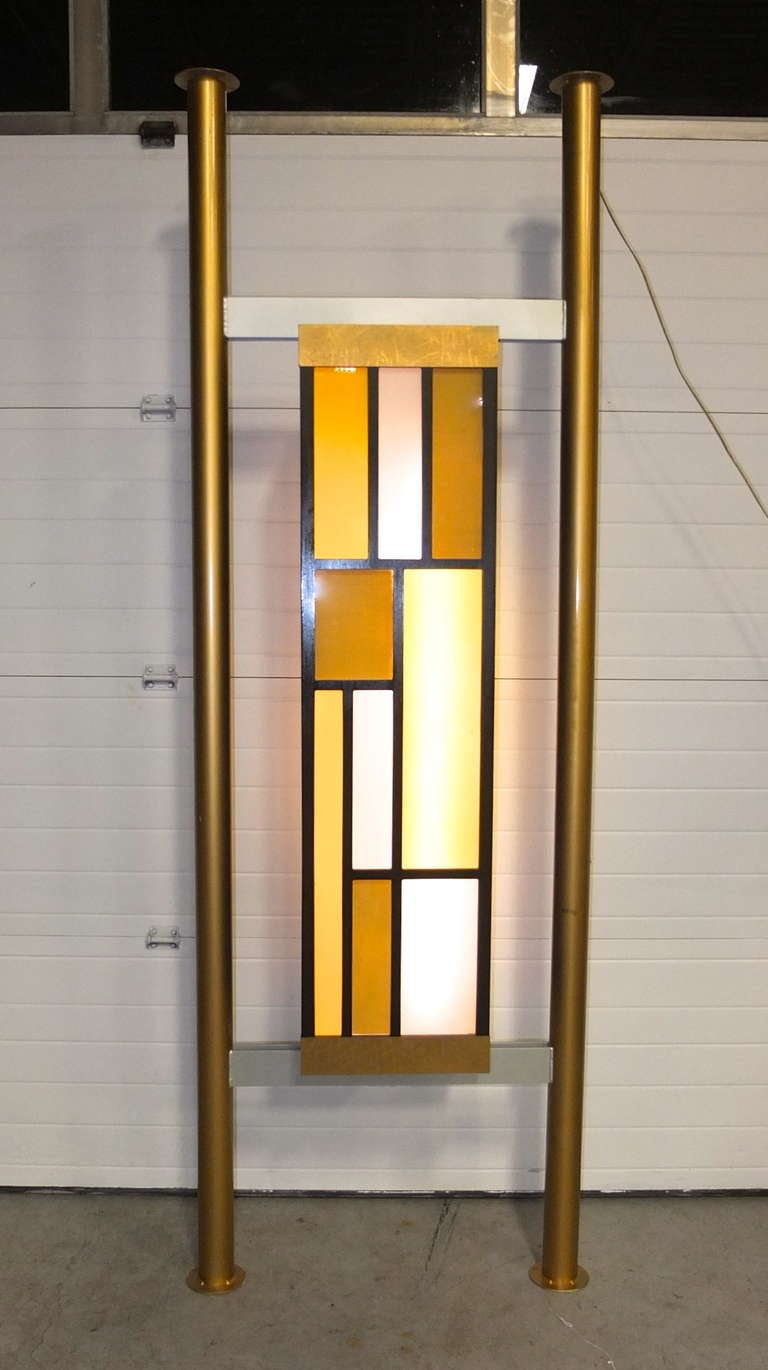 Pair Of Architectural Light Box Room Dividers At 1stdibs